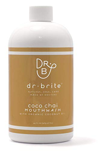 Dr. Brite Coco Chai Mouthwash | Whitens with Coconut Oil | Vegan | Natural & Nourishing Ingredients | Promotes Healthy Gums | Alcohol + Gluten Free | Fluoride Free | Made in USA