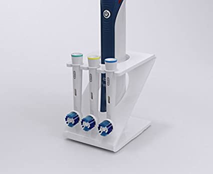 Soporte para cepillo de dientes eléctrico con 3 cabezales