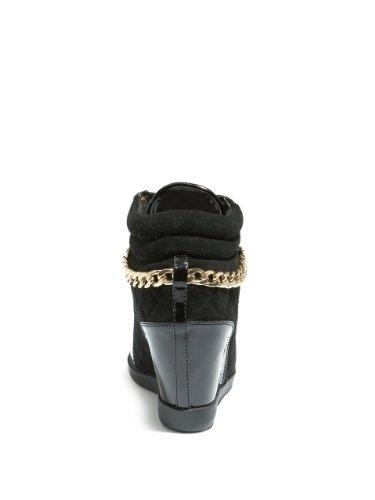 Guess - Zapatos de vestir para mujer Black Suede