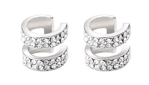 ALEXTINA Women's Cubic Zirconia Cartilage Earrings Non Piercing Ear Cuff Hoop Earrings