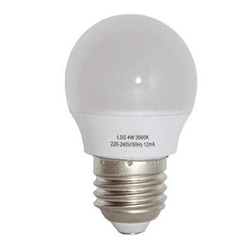 Alverlamp LSS042730 - Lámpara led smd esférica regulable 4w e27 3000k: Amazon.es: Bricolaje y herramientas