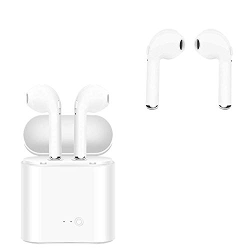 Wireless Bluetooth Headset, Carrying case with Charging Box 4.2 Bluetooth Noise canceling Headphones, Built-in Microphone Sweat-Proof Sports Headphones, Suitable for iPhone, Android, Laptop and Other
