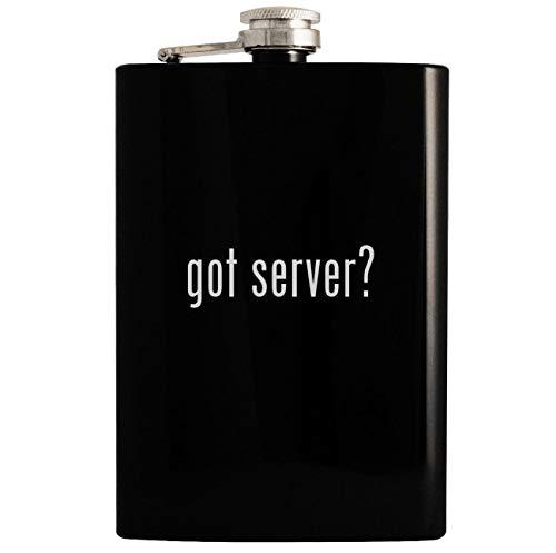 got server? - 8oz Hip Drinking Alcohol Flask, Black