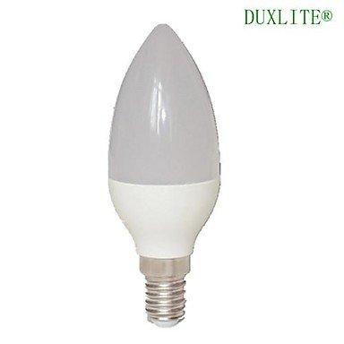 DUXLITE® 2PCS C37 E14 8W 3000K Warm White CRI>80 15x2835SMD LED 680LM(=Incan 60W+) Light LED Candle Bulb (AC 85-265V)