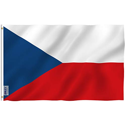 - Anley Fly Breeze 3x5 Foot Czech Flag - Vivid Color and UV Fade Resistant - Canvas Header and Double Stitched - Czechia National Flags Polyester with Brass Grommets 3 X 5 Ft