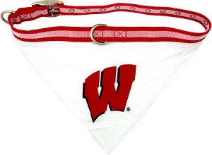 Wisconsin Badgers Bandana and Leash Set Size Medium