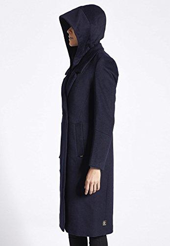 Abrigo Azul para Manga Básico mujer Larga khujo fxBT1f