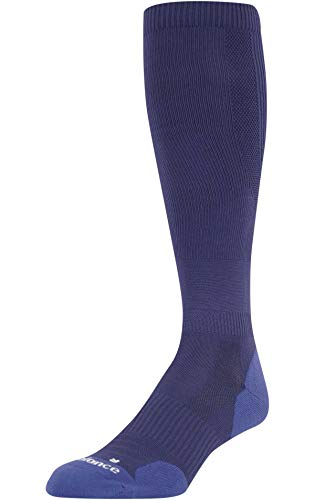 New Balance Men's Over the Calf Baseball Socks (L, Navy)
