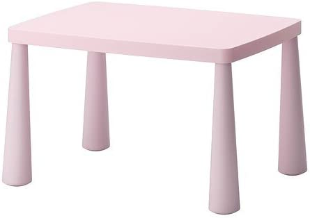 IKEA MAMMUT - Mesa para niños, luz rosa £ 22 - 77x55 cm: Amazon ...