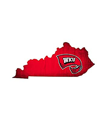 Fan Creations Western Kentucky Team Color Logo State Sign, Multi