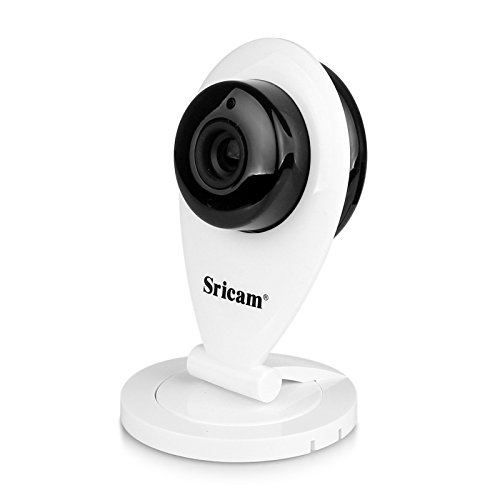 LESHP Wireless Wifi IP Camera Baby Monitor with HD 1080 x 720P Indoor Security Camera Advanced Edition (White)
