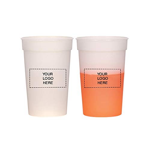 (17 oz. Color Changing Stadium Cup by Promo Direct | 100 QTY | 1.28 Each | Customization Product Imprinted & Personalized Bulk with Your Custom Logo)