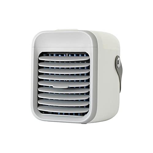 Snowlike Portable Air Conditioner Fan, USB Rechargeable Evaporative Air Conditioner Fan Air Cooler Mini Home Desktop Air…