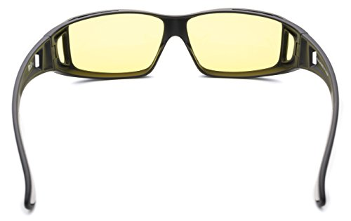 Fitover Night Driving Glasses (Charcoal, Yellow) by Mr.O (Image #3)