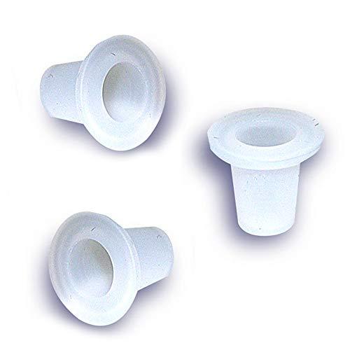 National Artcraft White Translucent Silicone Closure Stopper Plug fits a 1/4 Inch Hole (Pkg/10)
