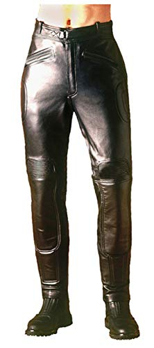 d827513d3 III-Fashions Mens Black Rider Cafe Racer Warrior Antique Retro Distressed  Black Biker Pants