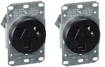 Bryant Electric RR330F, Outlet, Range Receptacle, Black (2-(Pack))