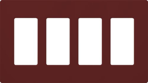 Lutron SC-4-MR Satin Colors 4-Gang Wallplate, - Colors Satin Lutron