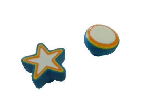 Colorful Stars/Circles - 2pc Kids Accent Drawer Pulls/Cabinet - Backyardigans Pull