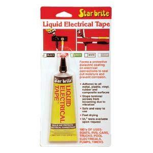 Star Brite 84154 - Cinta elástica líquida para cinta de maquillaje, color negro