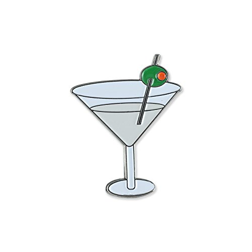 Martini And Olive - Dirty Martini with Olive Enamel Diestruck Lapel Pin– 1 Pin