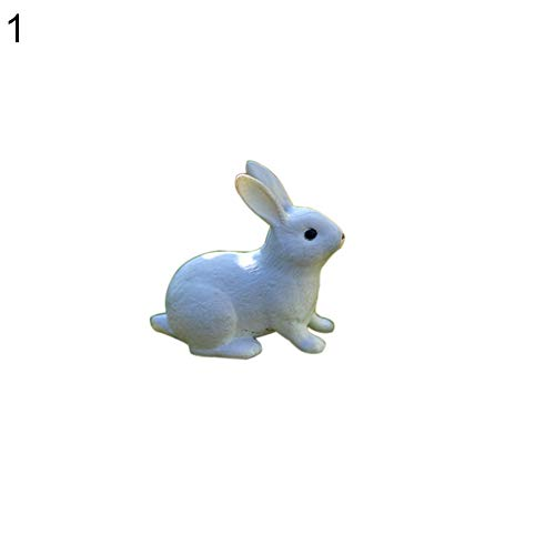 yanQxIzbiu Garden Resin Decor, Lovely Rabbit Miniature Landscape DIY Garden Decor Crafts Dollhouse Ornament - 1#- Best Indoor Outdoor Decorations for Patio Yard Office and House