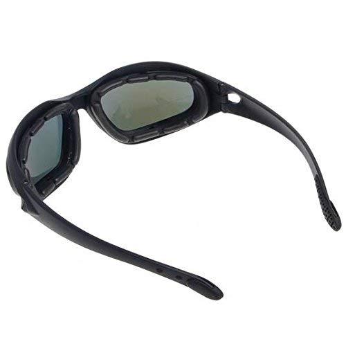 Polaris/é Conduite /Équitation Lentille Lunettes Des lunettes de soleil avec 4 lentilles pour moto v/élo activit/és de plein air chasse sportive militaire