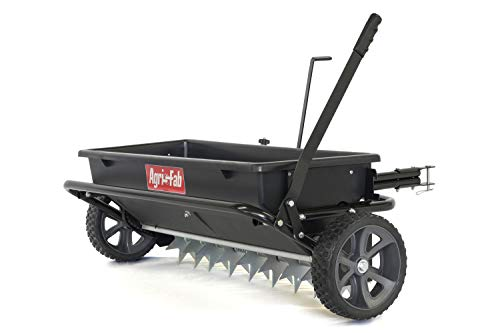 Lawn Drop Spreader (Agri-Fab 45-0543 100 lb. Tow Spiker/Seeder/Spreader, Black)