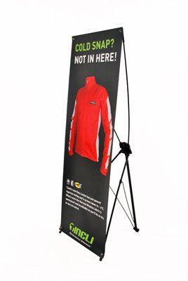 Displayfactory USA 24''*63'' Adjustable X Banner Stand Includes Bag for Tradeshow Indoor and Outdoor Display(1pc )