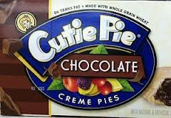 Cutie Pie Fruit & Creme Snack Pies 6/2.0 Oz (Pack of 2) 12 Pies Total (Chocolate)