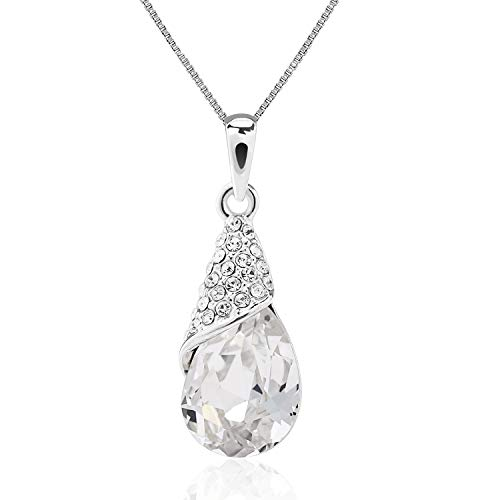 - ASHE Elegant Teardrop Pendants Valentine's Day Necklace for Women Bride Wife Girlfriend Birthday from Swarovski