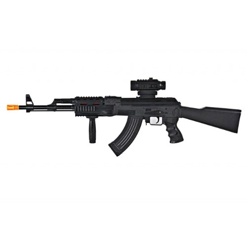 1/1 Scale Realistic Looking Toy AK-47 Machine Gun Toy Guns for Kids with Firing Sounds, Lights and Vibrations