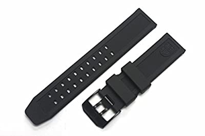 LUMINOX Replacement Rubber Watch Band Strap with PVD Black Buckle EVO Navy SEAL Colormark 3050 3950 8800 from Luminox