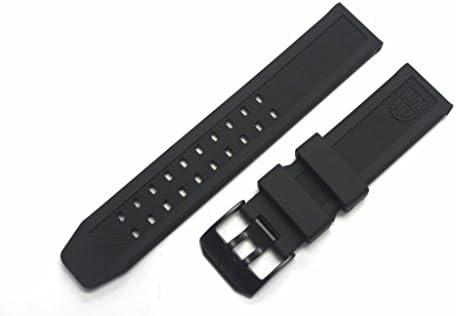 تسمه باند لاستیکی جایگزین LUMINOX با PVD Black Buckle EVO Navy SEAL Colormark 3050 3950 8800