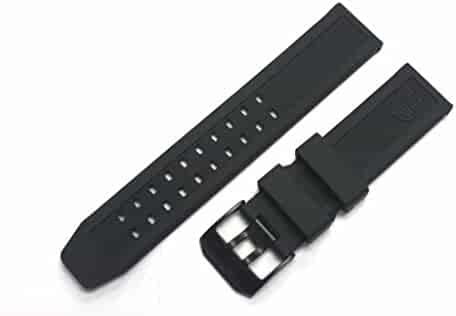 LUMINOX Replacement Rubber Watch Band Strap with PVD Black Buckle EVO Navy SEAL Colormark 3050 3950 8800