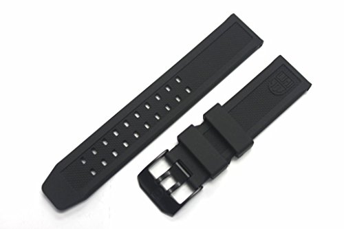 LUMINOX Replacement Rubber Watch Band Strap with PVD Black Buckle EVO Navy SEAL Colormark 3050 3950 8800 by Luminox