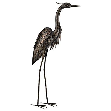 Regal Art and Gift Bronze Heron Standing Art, 45-Inch