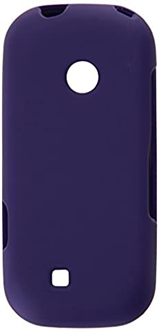 HR Wireless Rubberized Cover Case for LG Cosmos 3 - Retail Packaging - Purple (Cell Phone Cases Lg Cosmos 3)