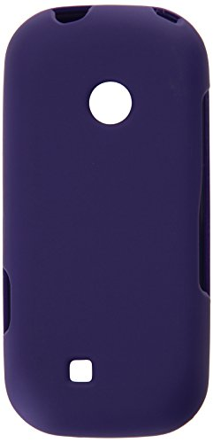 HR Wireless Rubberized Cover Case for LG Cosmos 3 - Retail Packaging - Purple