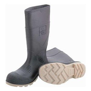 Rubber 51244 15-Inch Steel Toe Cleated Knee Boot Size 5 Brown