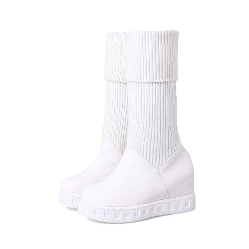 da da da Tacco White Piatto Stivali Fondo Warm Caldi Donna Spesso Interno Neve da rrvw7pq