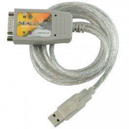 Sealevel SeaLINK Ruggedized USB to 1-Port RS-232 DB9 Serial Interface Adapter, High-Speed 921.6 Kbps Max Data Rate, Authentic FTDI Chipset by Sealevel