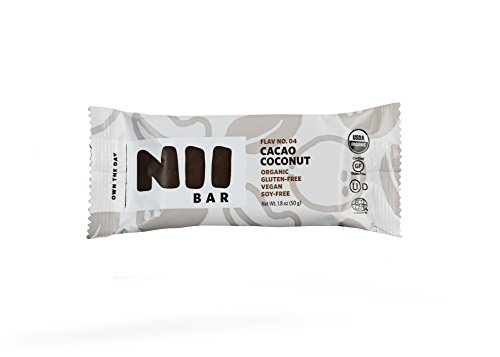 Cacao Coconut Organic Nutrition Bar,1.8 oz (12 Pack) Vegan, Gluten-Free, Non-GMO, Nii Bar