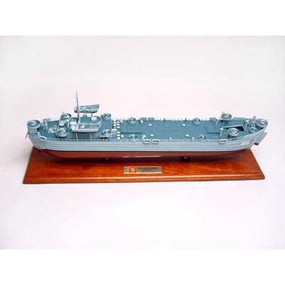 LST Boats Desktop Model Display 1/24 Scale / Unique and Perfect Gift Idea / World War II Landing Ship Replica / Museum Quality Handcrafted Collectible Gift Toy