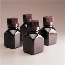 Nalgene 322021-0030 PETG Media Bottles with Closure, 30 mL, Square Amber (Pack of 280)