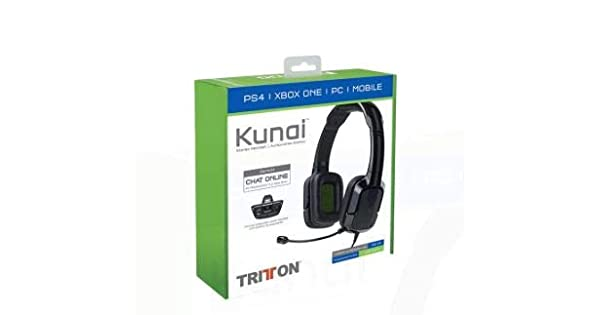 Mad Catz - Tritton Kunai 3.5Mm Stereo Headset Negro (PS4, Xbox One, Mobile): Amazon.es: Videojuegos