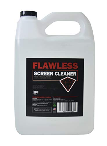 Flawless Screen Cleaner Spray with Microfiber Cleaning Cloth for LCD, LED Displays on Computer, TV, iPad, Tablet, Phone, and More (1 Gallon) (Display Telephone 1)