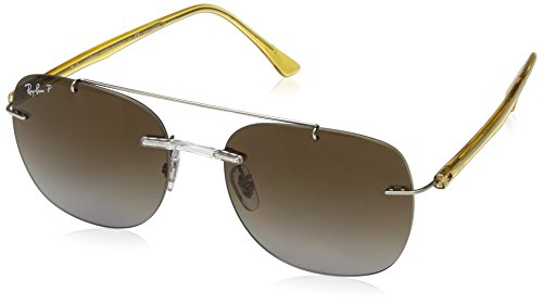 Ray-Ban Men's Injected Man Polarized Square Sunglasses, Transparent, 55 - Rb3561 Ban Ray
