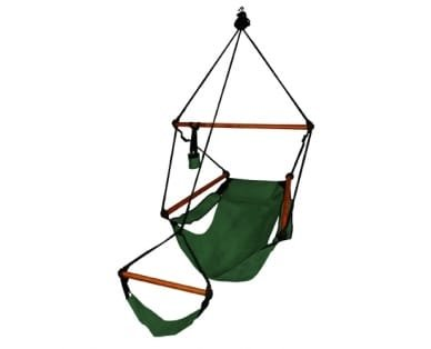 (1 Piece Hunter Green Hammock Chair, Forest Hanging Swing, Camping Comfortable Relaxing Porch Summer Fun Traditional Modern Durable, Polyester)