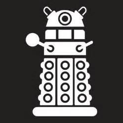 - Chase Grace Studio Doctor Who Inspired Dalek Daleks Vinyl Decal Sticker|WHITE|Cars Trucks Vans SUV Laptops Wall Art|5.5